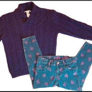 Janie and Jack Matching Sets - Janie & Jack Cable Knit & Place Leggings